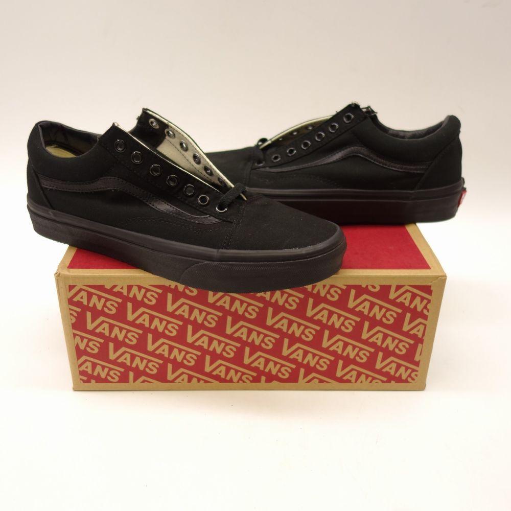 dc10176932 New Vans Mens Solid Black Classic Canvas Low Sneaker Shoes Left 11 Right  10.5  VANS  CasualShoes