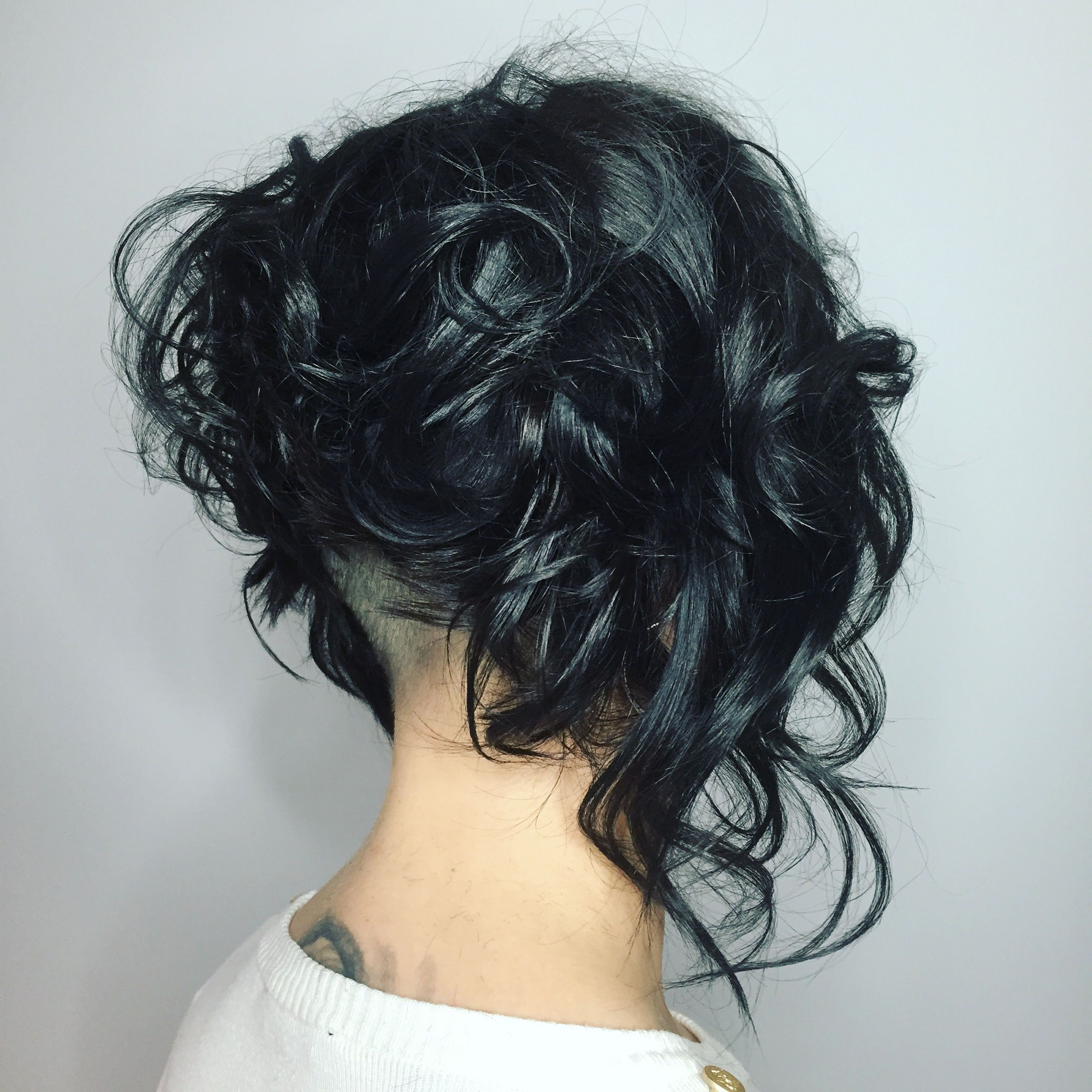 Curly Bob With Undercut Stacked Bob Hairstyles Curly Bob Hairstyles Bob Hairstyles
