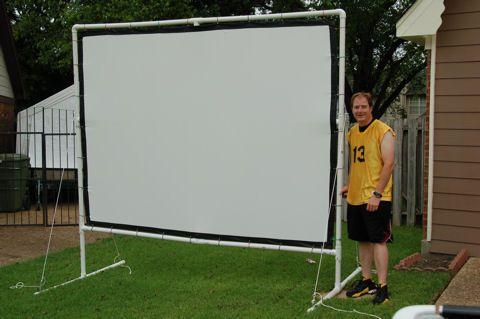 Diy movie theater screen for backyard google search for Diy backyard theater seats
