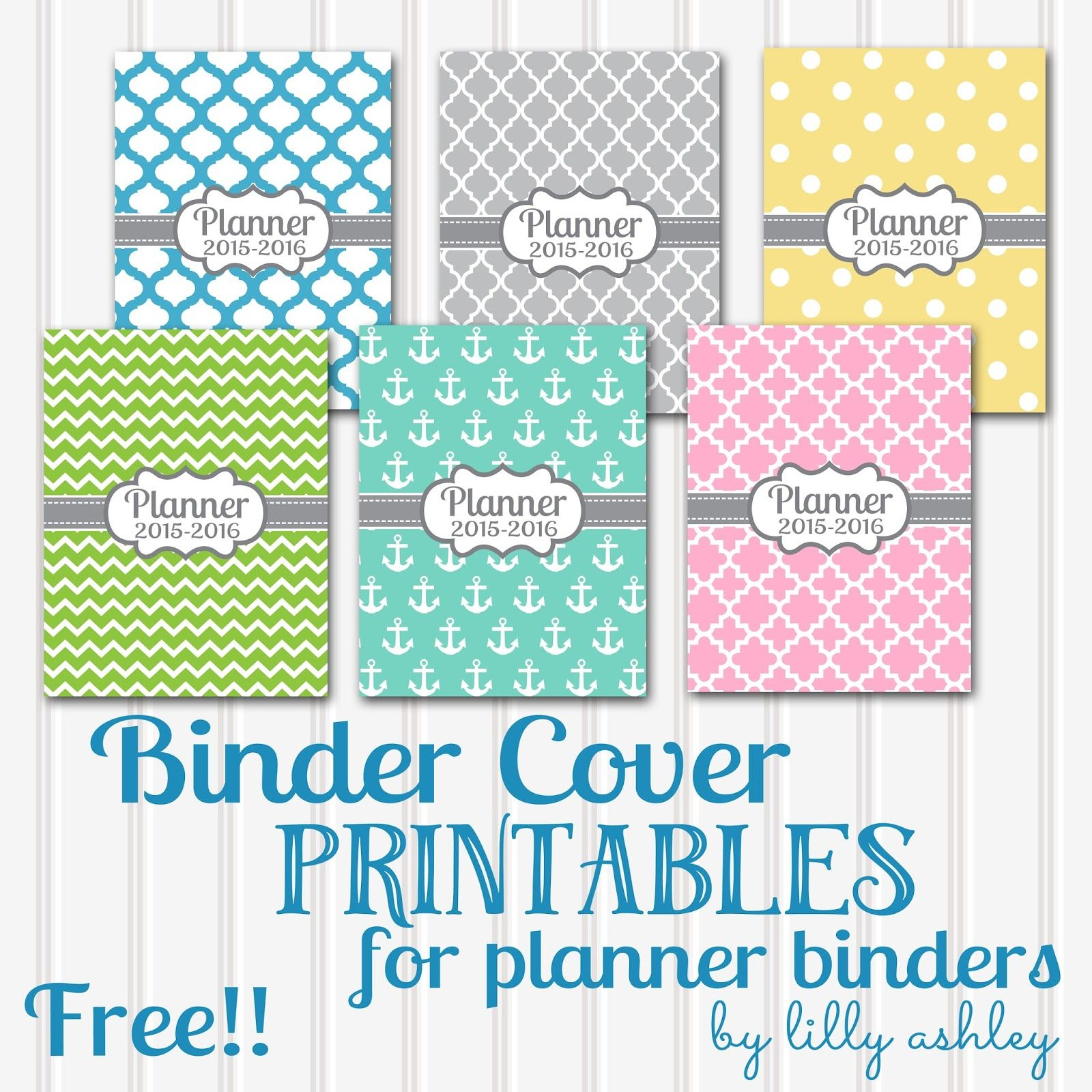 Free Printable Planner Covers...Six Styles!
