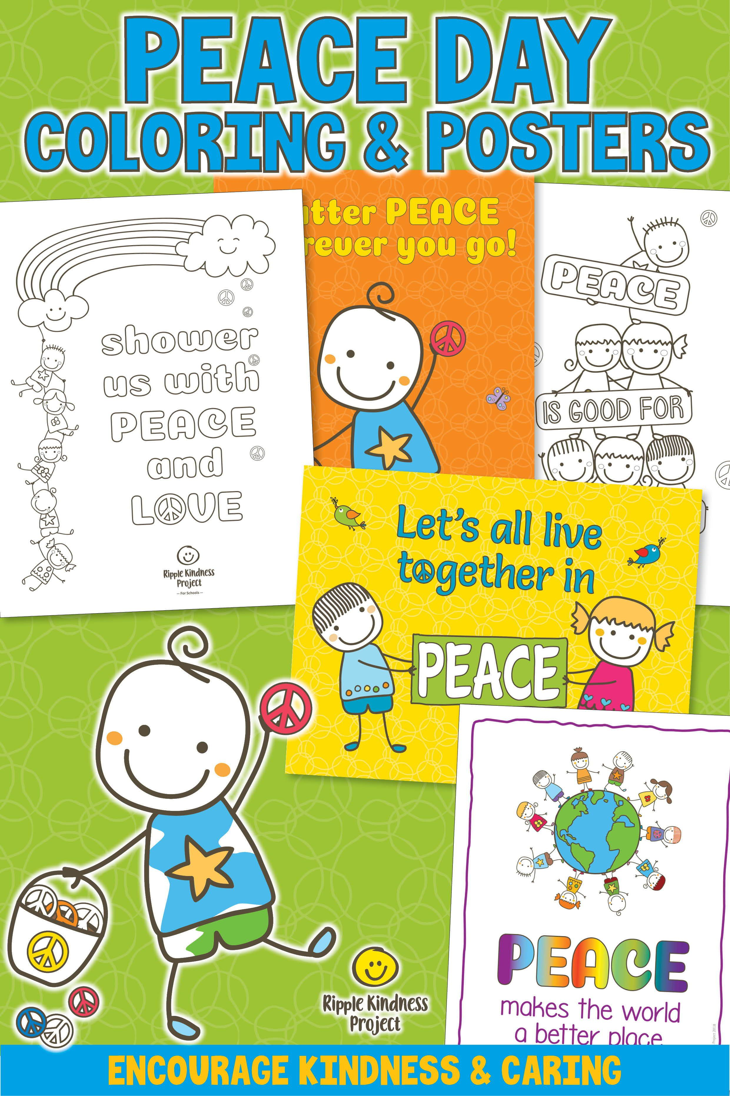 Peace Day Coloring Pages Friendship Bulletin Board