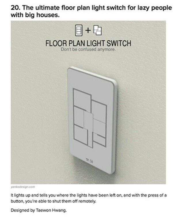 Floor Plan Light Switch This Is The Perfect Gadget For Your Nerd That Would Like To Conserve Energy But Do It In An Awesome Way