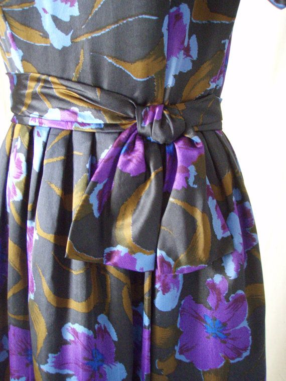 1950s Cocktail Dress Silk Saks Fifth Avenue by StilettoGirlVintage, $68.00