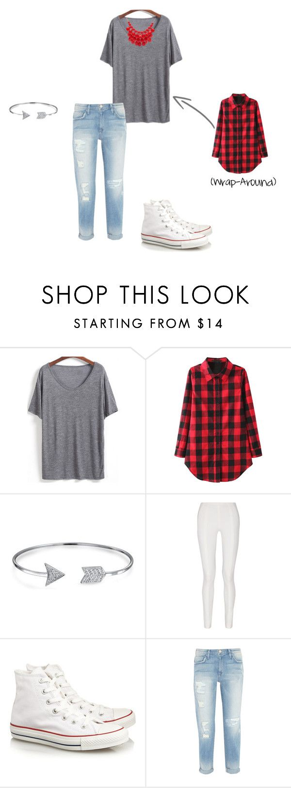 """""""Modern Red"""" by sketchedbyj ❤ liked on Polyvore featuring Bling Jewelry, Donna Karan, Converse, Current/Elliott, Alexa Starr and modern"""