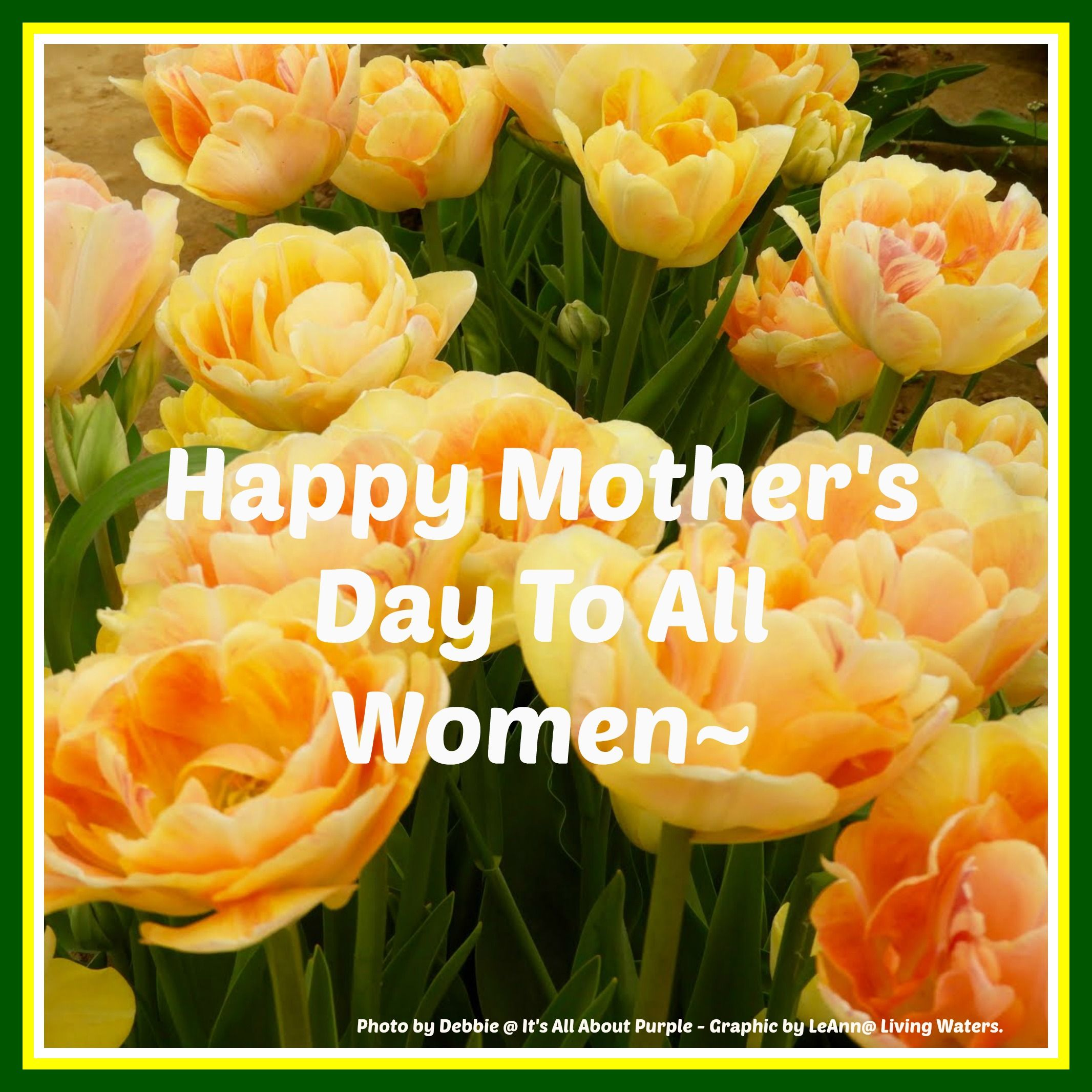 Happy Mother's Day thoughts for all you marvelous mothers ...