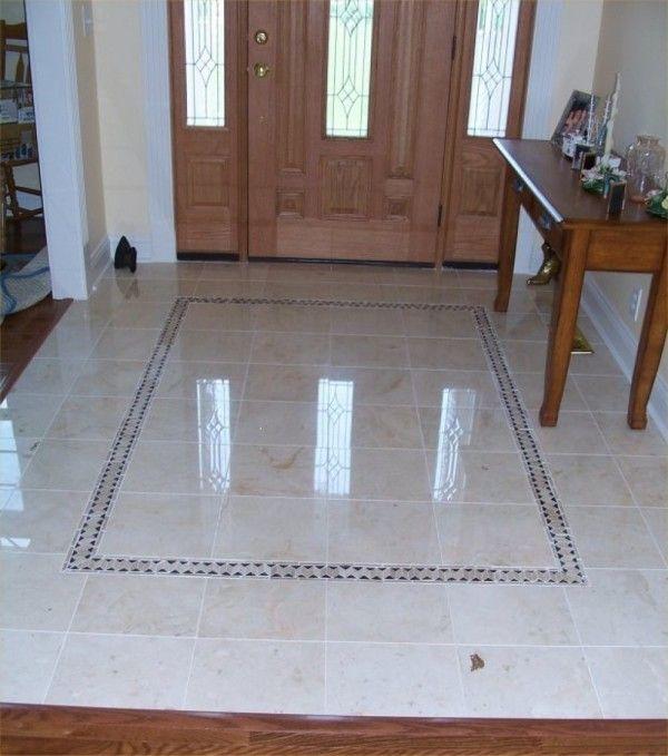 statuette of rectangular floor tile design - Foyer Tile Design Ideas