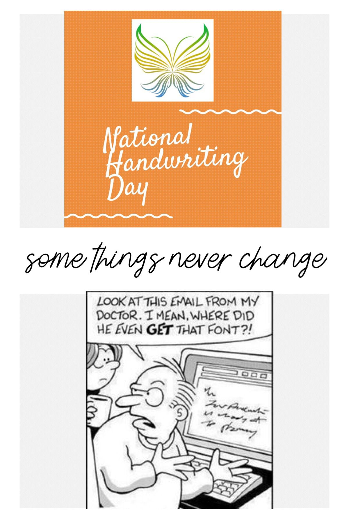 National Handwriting Day! Doctors may have a reputation of