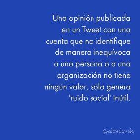 Una opinión publicada en un Tweet ... #cita
