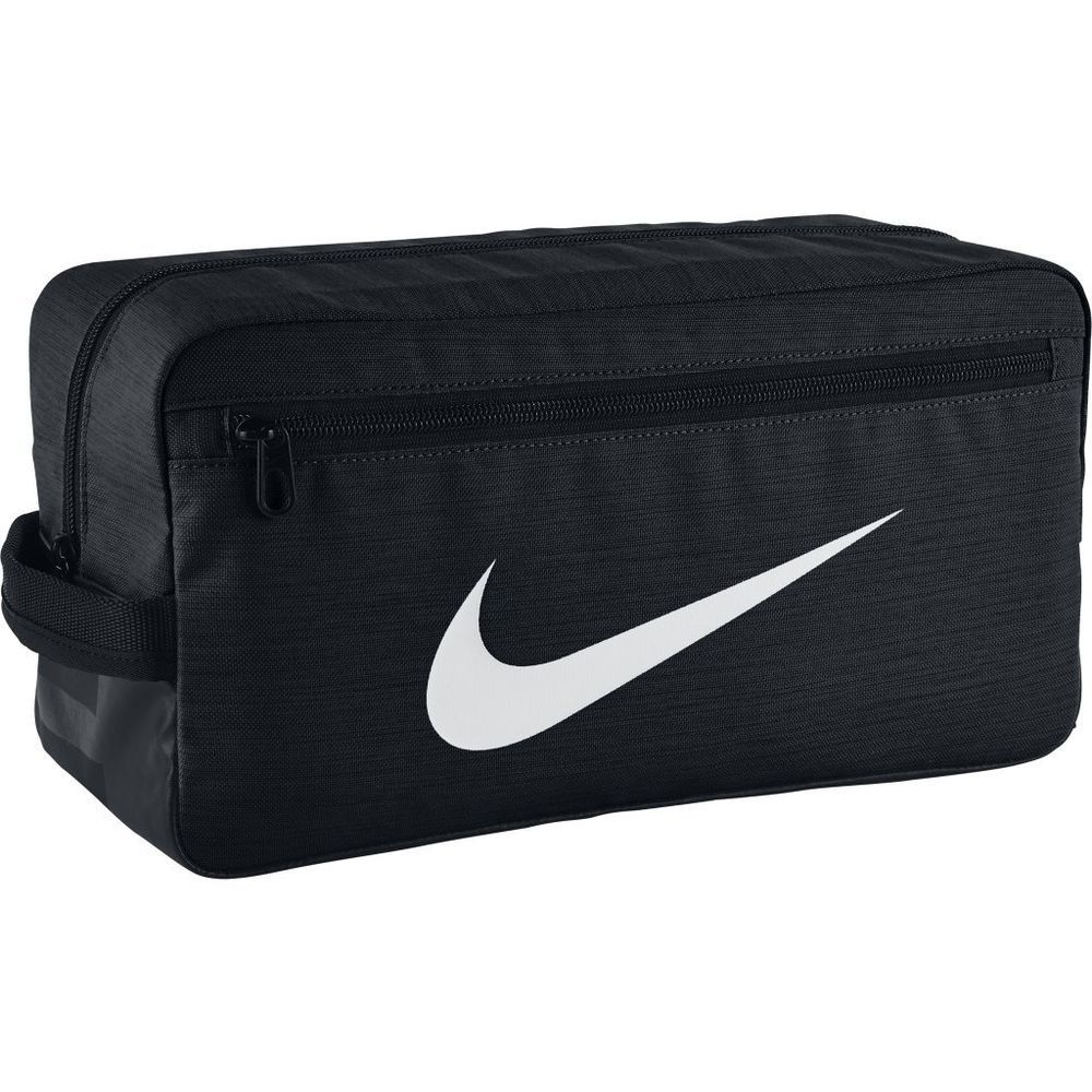 Nike Brasilia Training Shoe Bag Swoosh Black White Pouch Golf Sports Ba5339 010