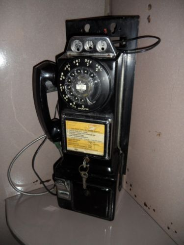 Old Antique Wooden Phone Booth All Original Including Working Pay Phone | eBay