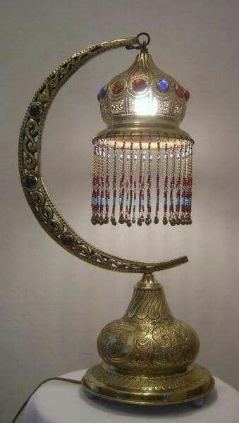 Crescent Moon Lamp Moroccan Table Lamp Lamp Bohemian Lamp
