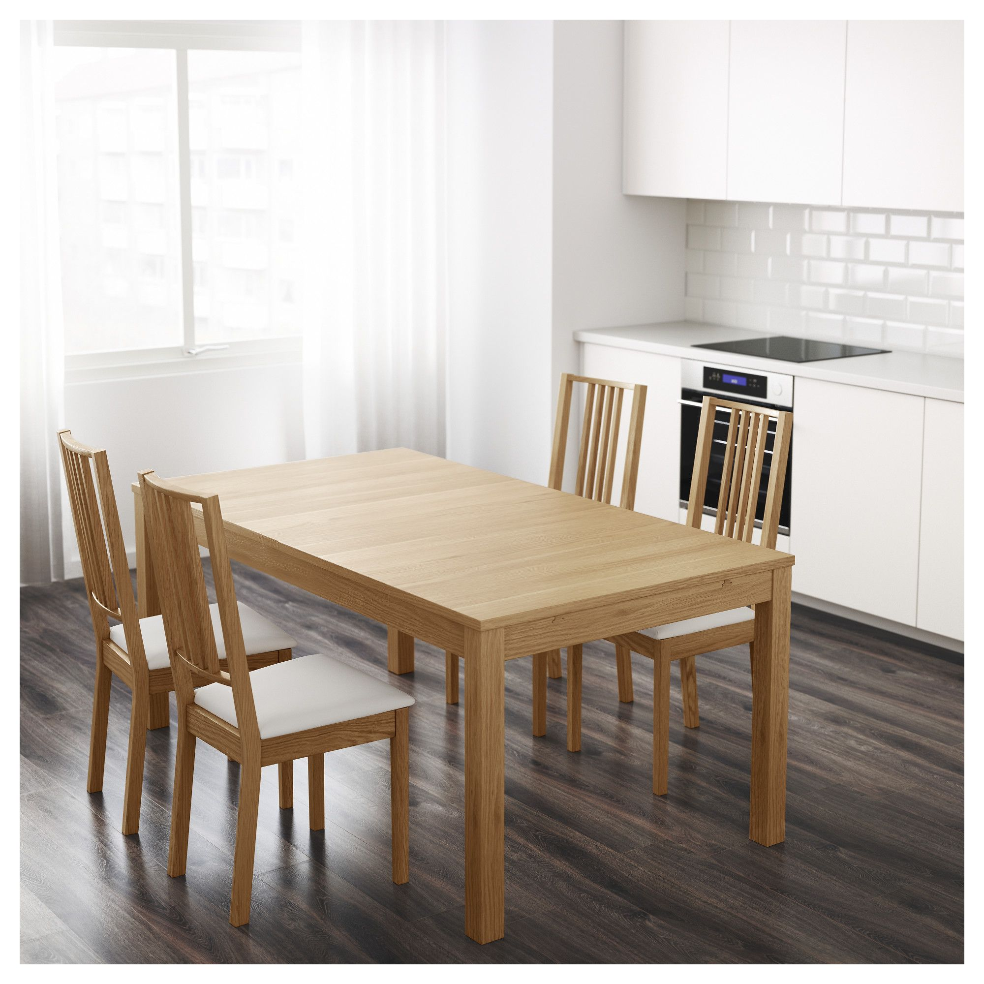 Ikea Bjursta Extendable Table 2 Extension Leaves Included