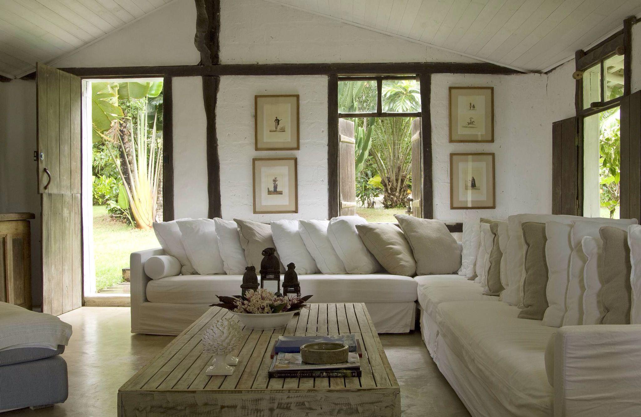 Sofá L | Casa de veraneio, Casas, Decoração de casa