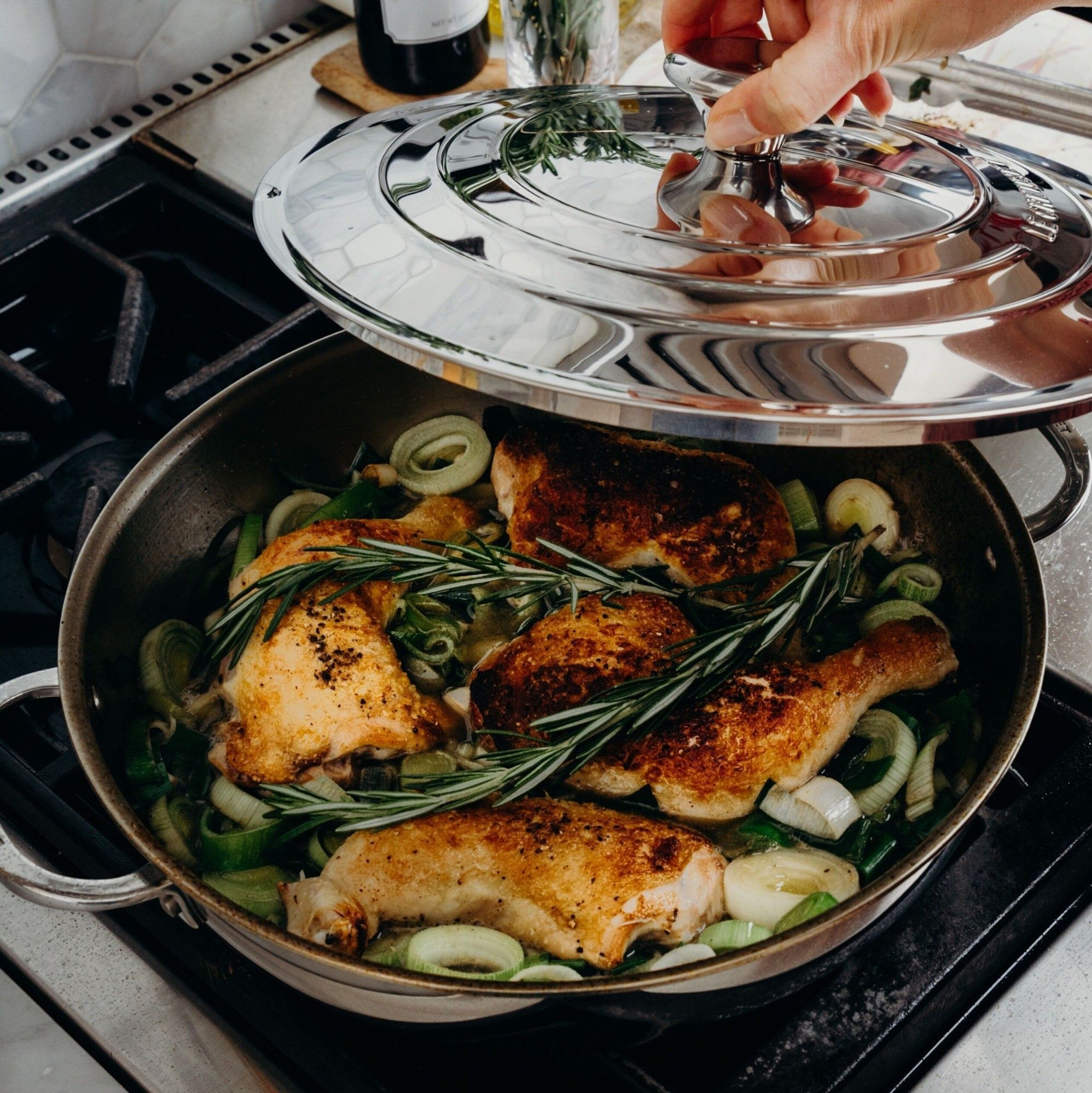 Nothing Compares To A Home Cooked Meal Feel Like A Pro With Our Stainless Steel Brasier Thisiscrumb In 2020 No Cook Meals Creuset