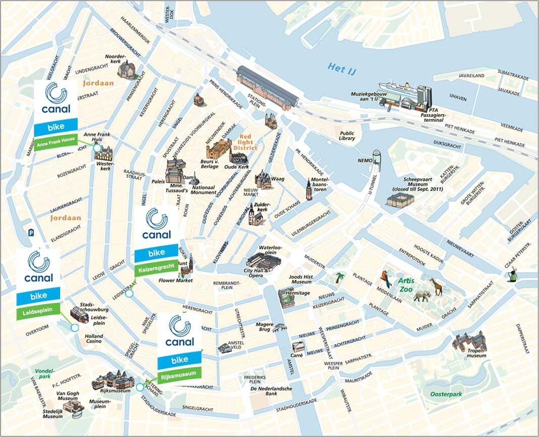 A Travers Amsterdam Avec Le Canal Bike Canal Nl Amsterdam