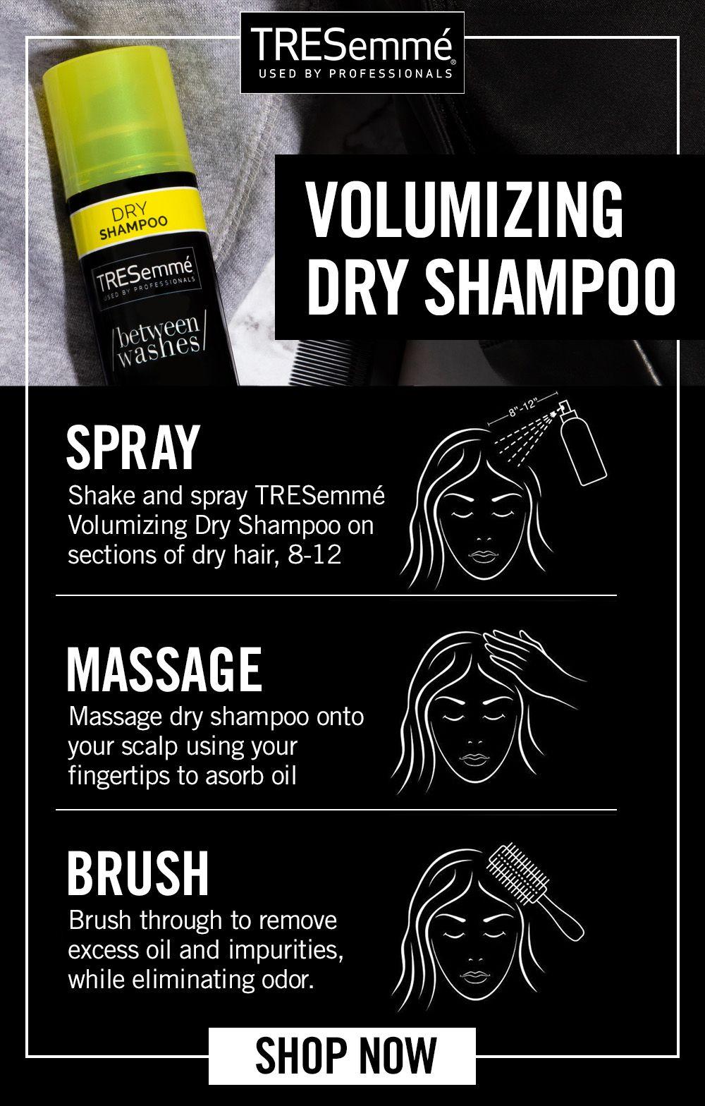 Volumizing Dry Shampoo Tresemme Dry Shampoo Dry Shampoo Hairstyles Hair Help
