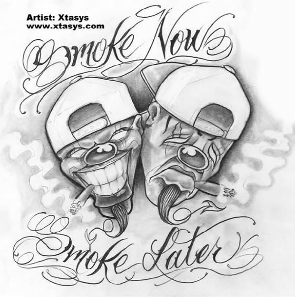 Gangsta Hood Tattoo Joker Gangster Clown Drawings Best Tattoo Ideas