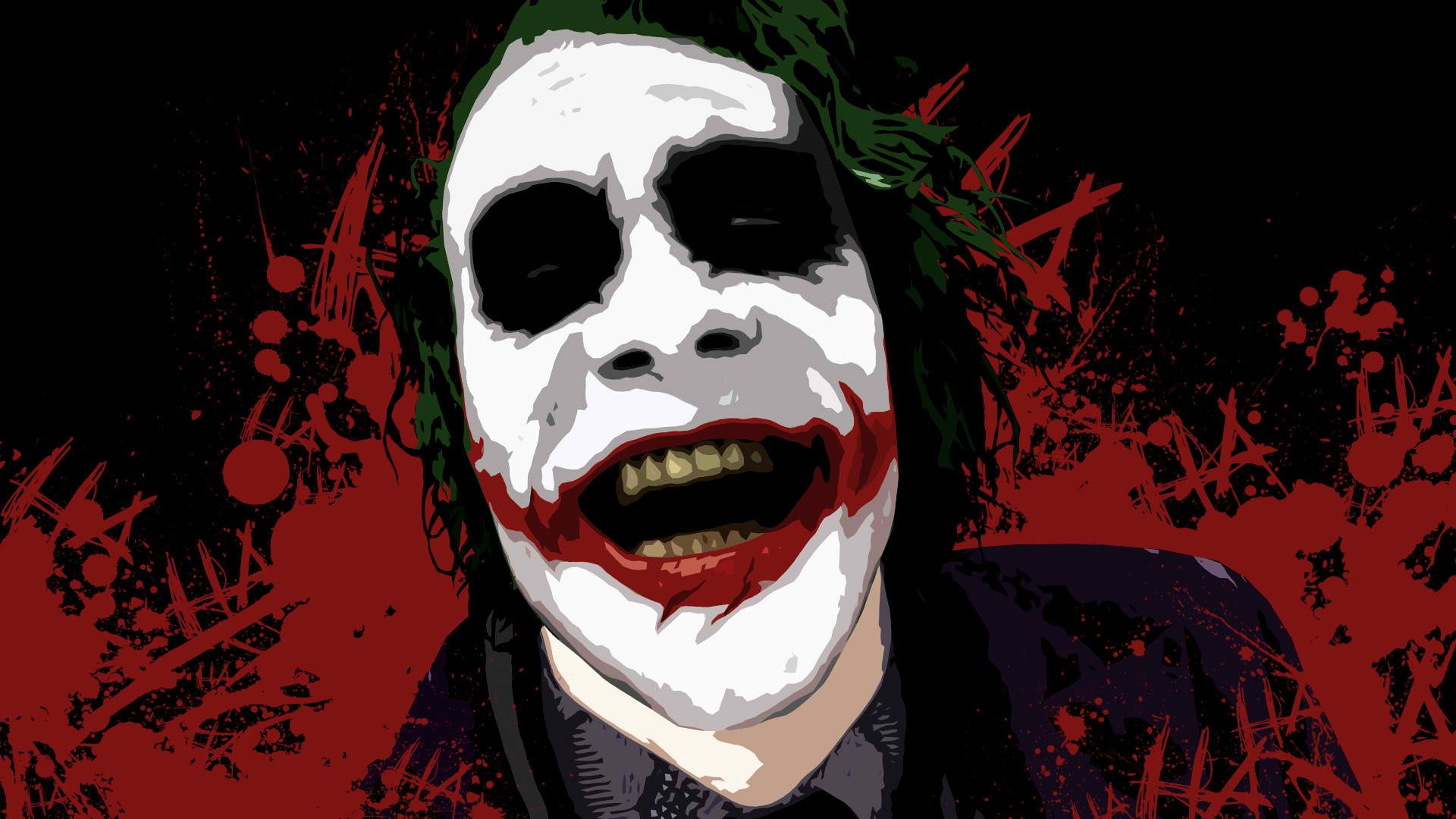 Dc comics the joker heath ledger batman the dark knight 1920x1080 wallpaper paint joker y cine - Joker brand wallpaper ...