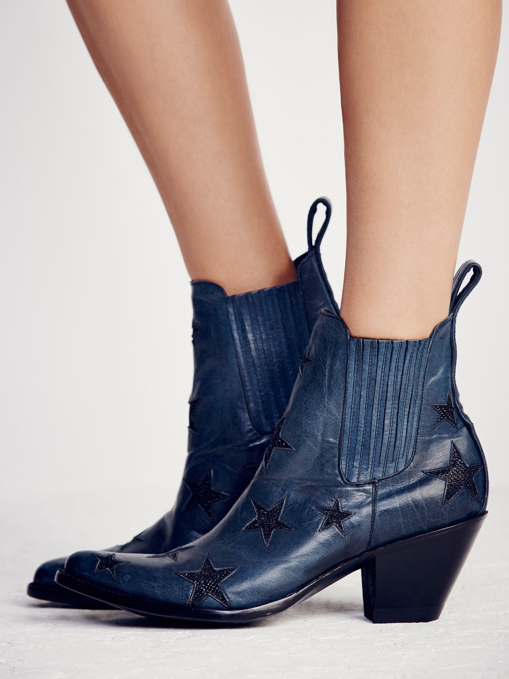 Reach For The Stars Ankle Boot Kitten Heel Ankle Boots Womens Boots Ankle Chunky Heels Casual