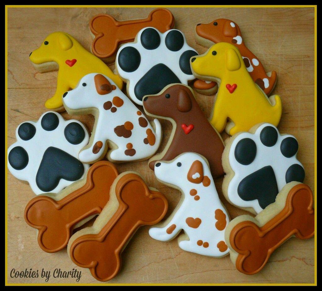 dog #puppy #bone #paw | Cake it | Pinterest | Galleta, Galletas ...