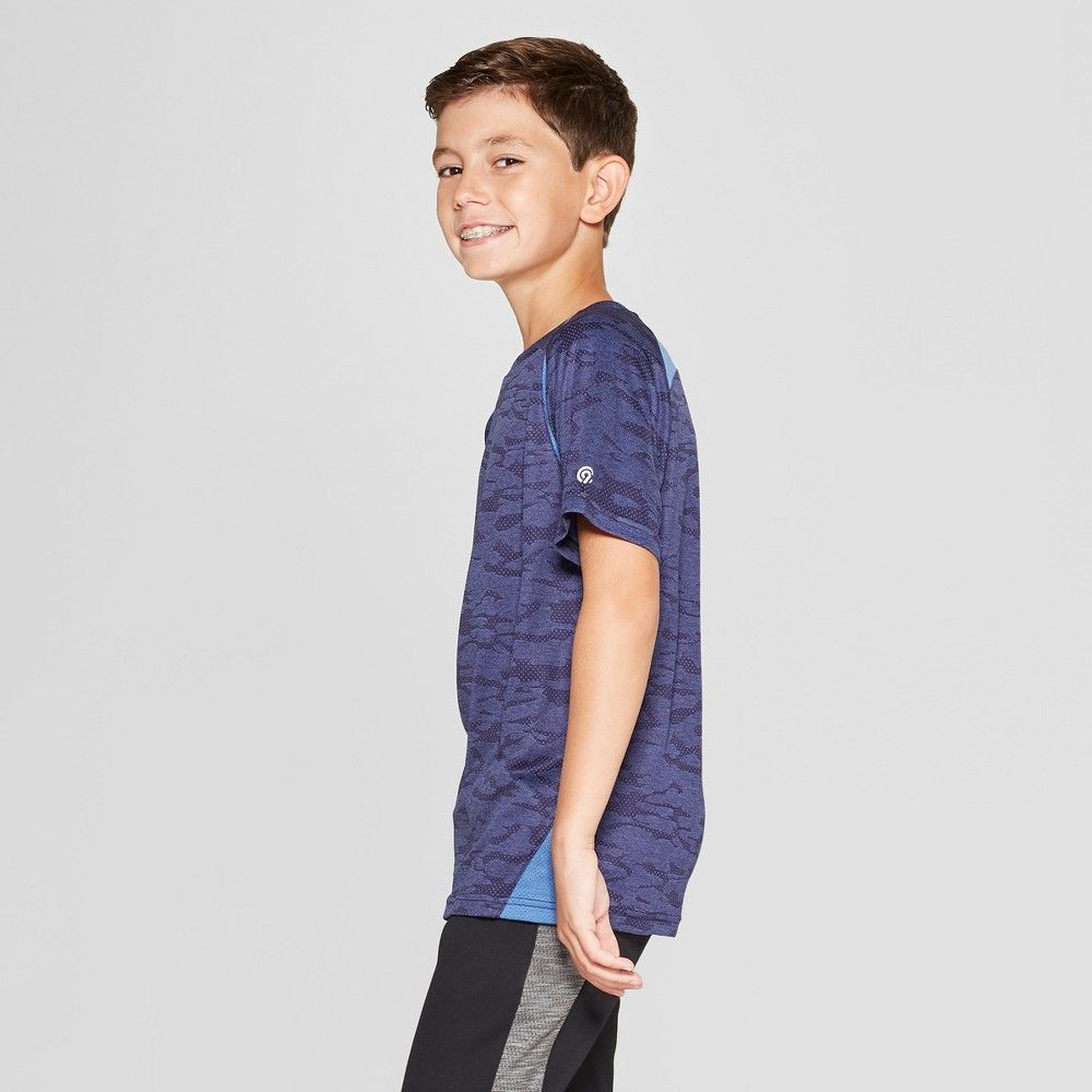 90207c9e Give him a sleek look whether he's headed to school or playing pickup with  friends with this Camo Training T-Shirt from C9 Champion. This boys' short- sleeve ...