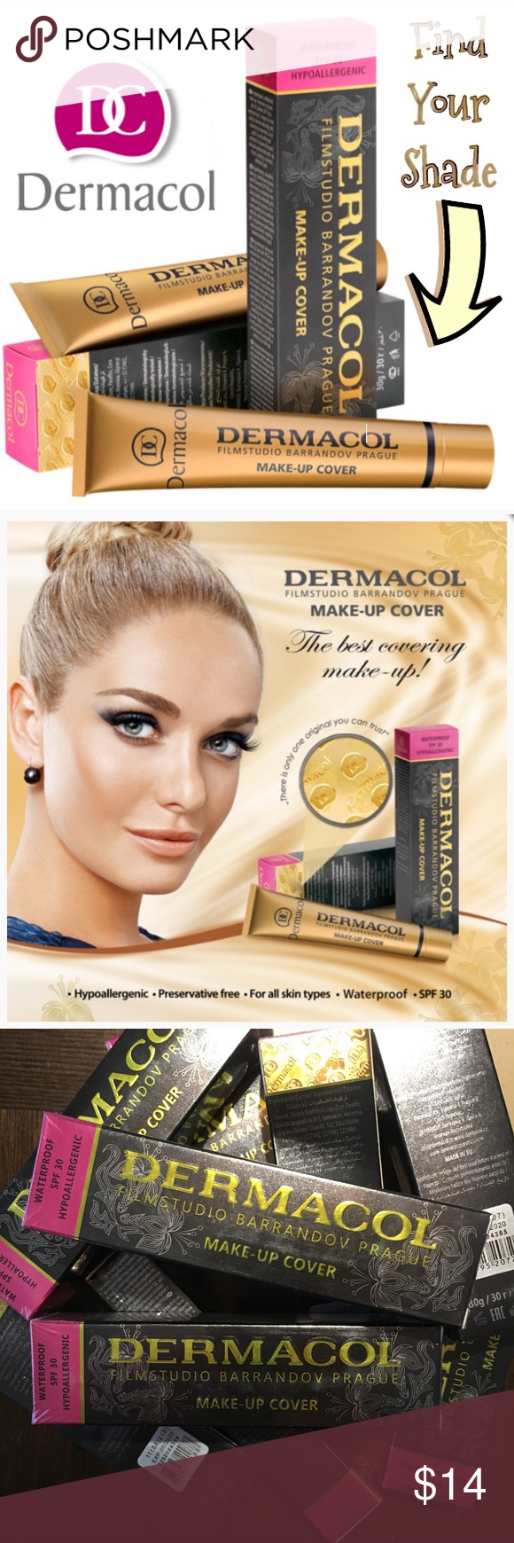 NIB Authentic Dermacol Foundation Makeup Cover Face and