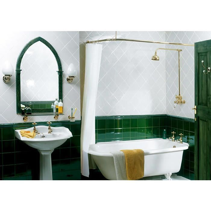 Imperial Bathrooms Corner Curtain Rail. Shower Accessories