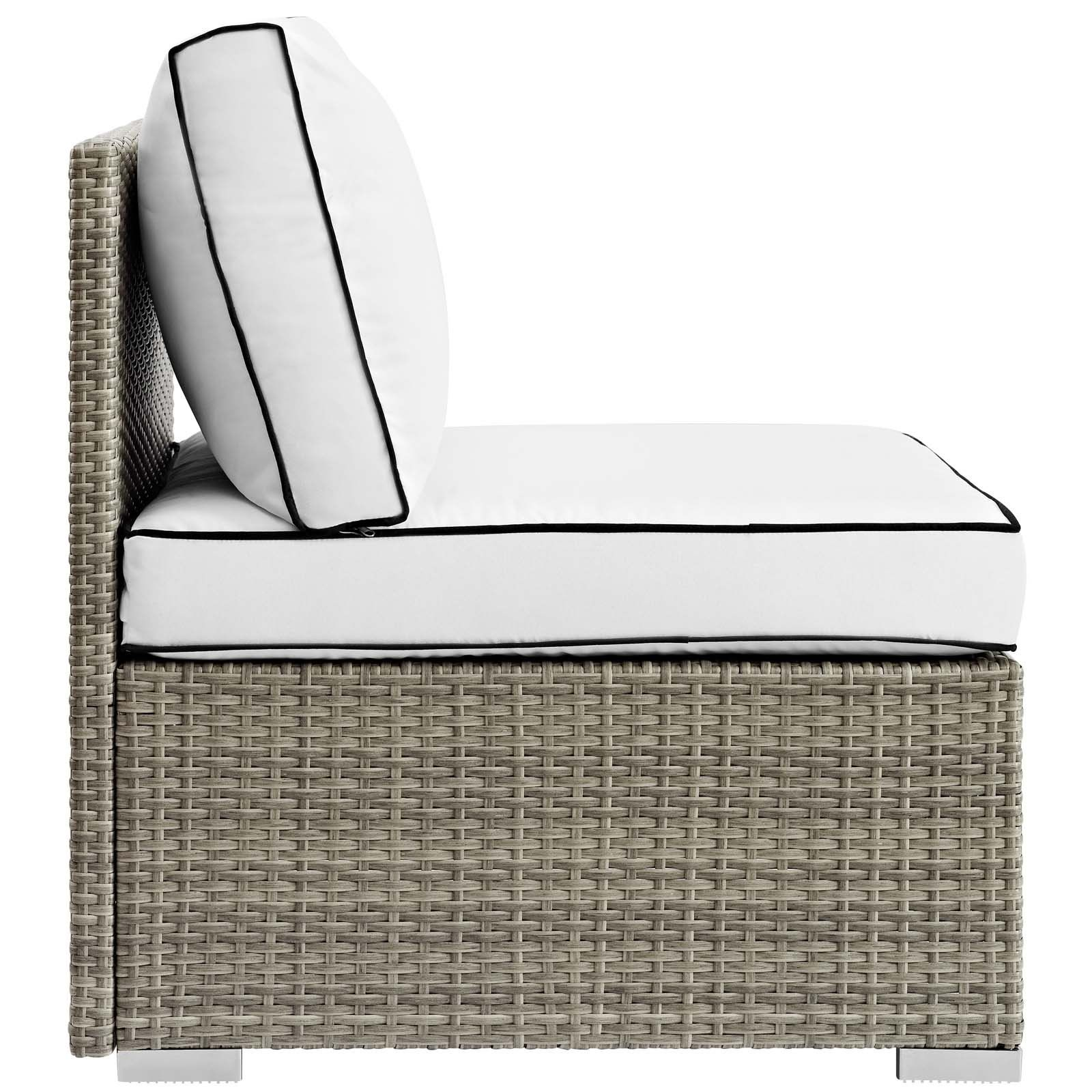 Modway Repose Outdoor Patio Armless Chair, Multiple Colors