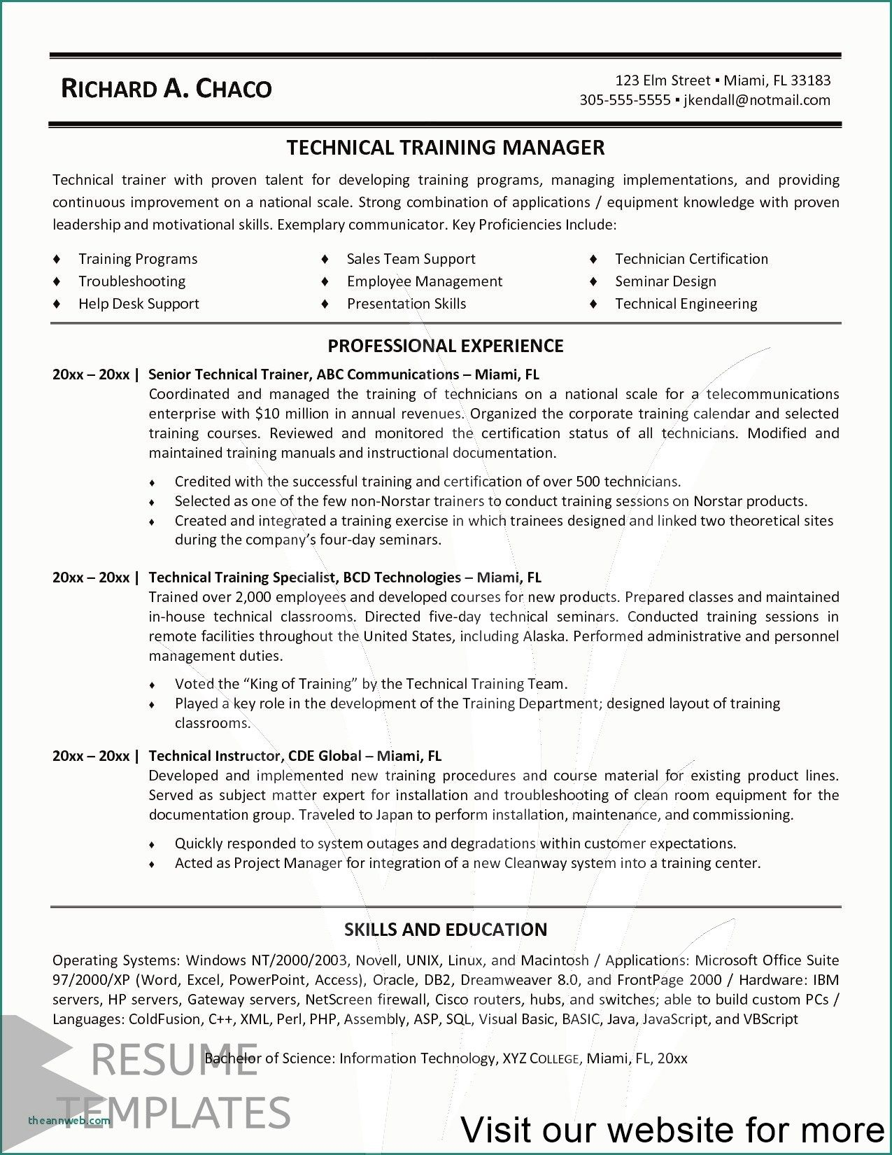 Simple Resume Examples 2020