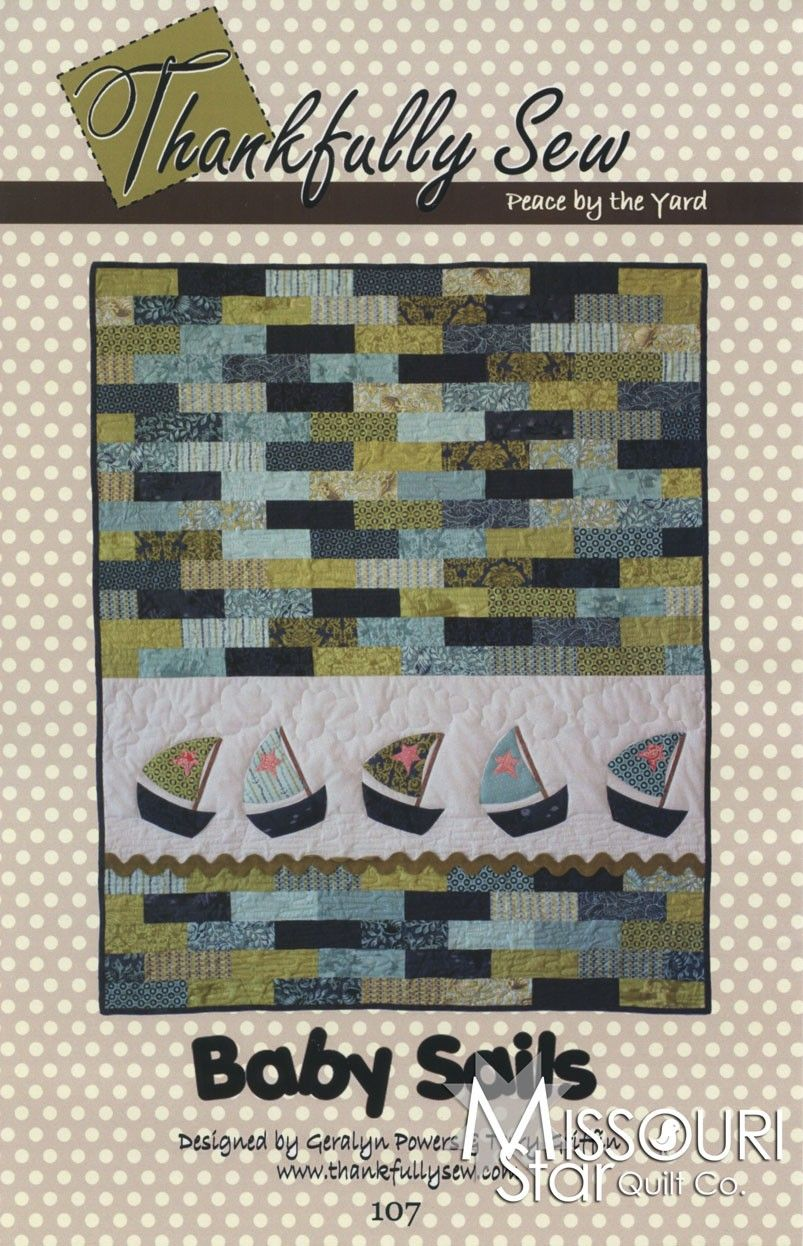 Kinder Quilt Patronen.Baby Sails Applique Quilt Pattern By Thankfully Sew Sku 107 Ts