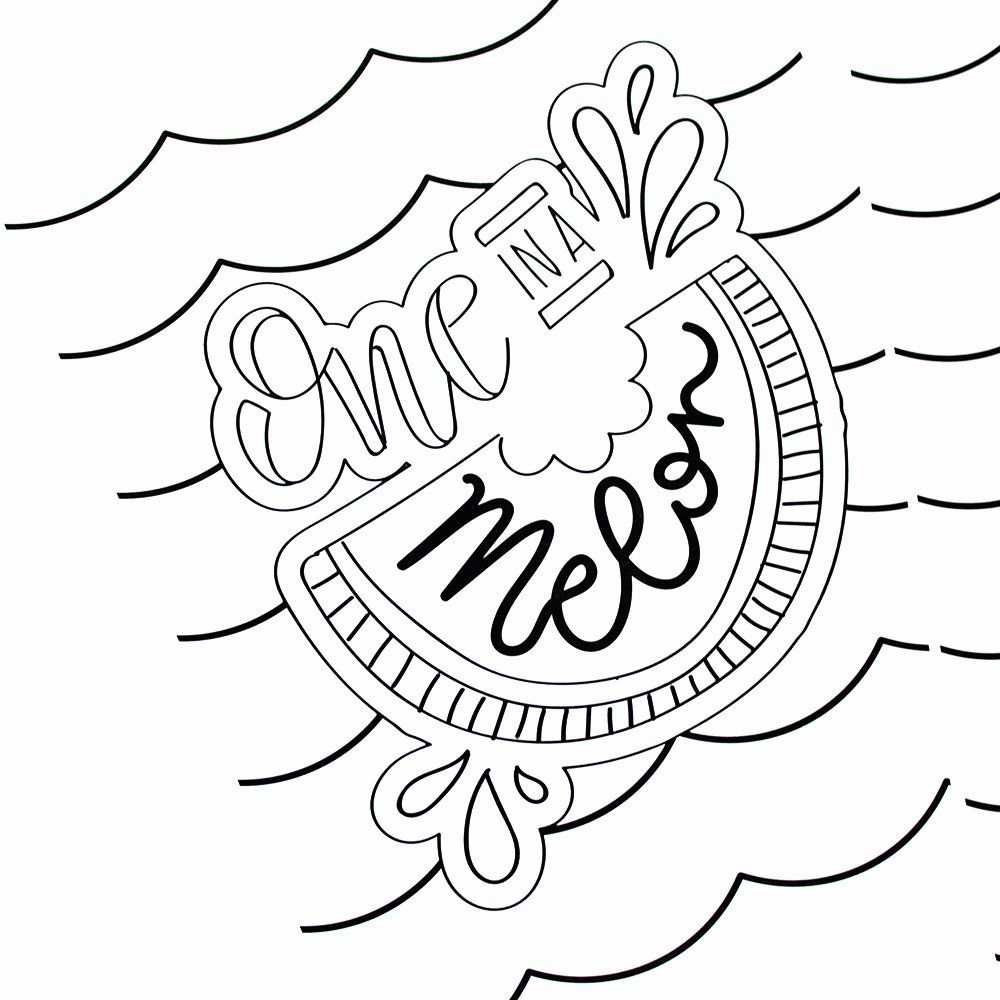 Summer Coloring Pages for toddlers in 2020 Summer