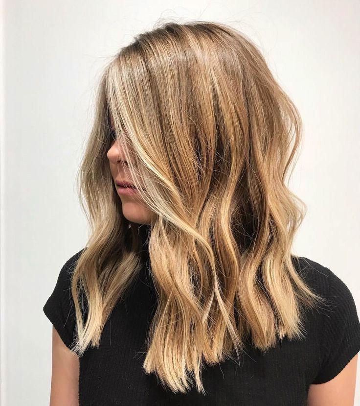The 74 Hottest Blonde Hair Looks to Copy This Summer   Ecemella #champagneblondehair Dark Honey Blonde Hair #darkblondehair