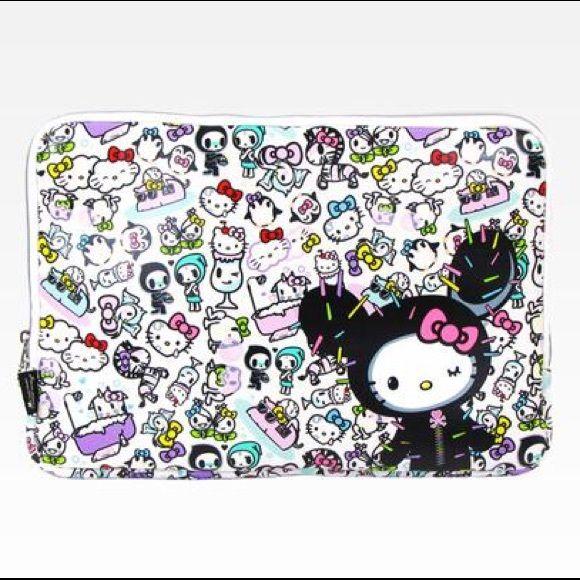 "Tokidoki x Hello Kitty 15"" Laptop Sleeve gently used laptop sleeve with slight marks on Hello Kitty's face (see pic) tokidoki Accessories Laptop Cases"