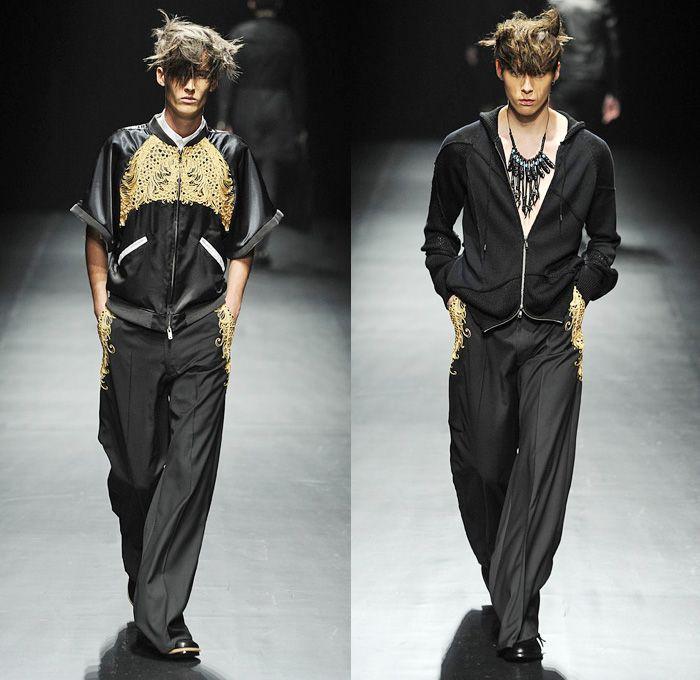 Christian Dada 2014 Spring Summer Runway Collection - Mercedes-Benz Fashion Week Tokyo Japan - Designer Masanori Morikawa - Black Military M...