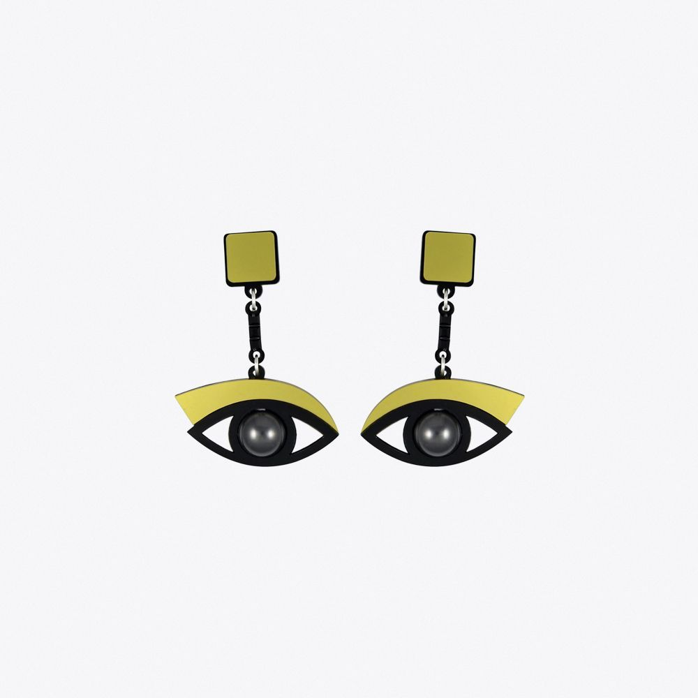 In the Blink of an Eye Earrings in Gold By Jennifer Loiselle - Fy