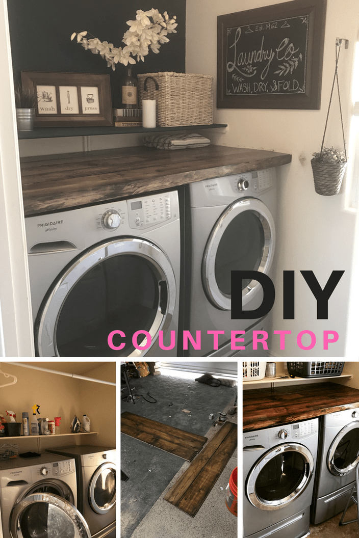 Laundry Room Countertop Above Those Front Load Washer and Dryers!