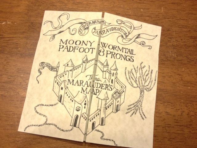 Marauders Map Harry Potter Card Paper Crafts Scrapbooking