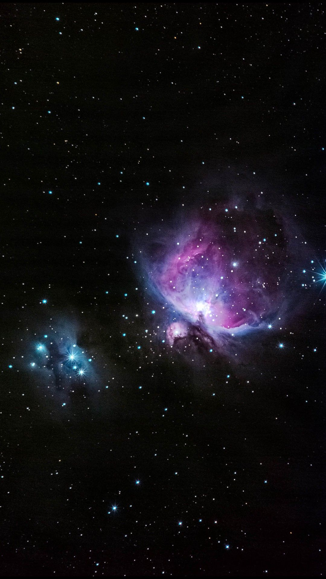 Blue And Pink Nebula Shiny In Outer Space | Cosmos ...