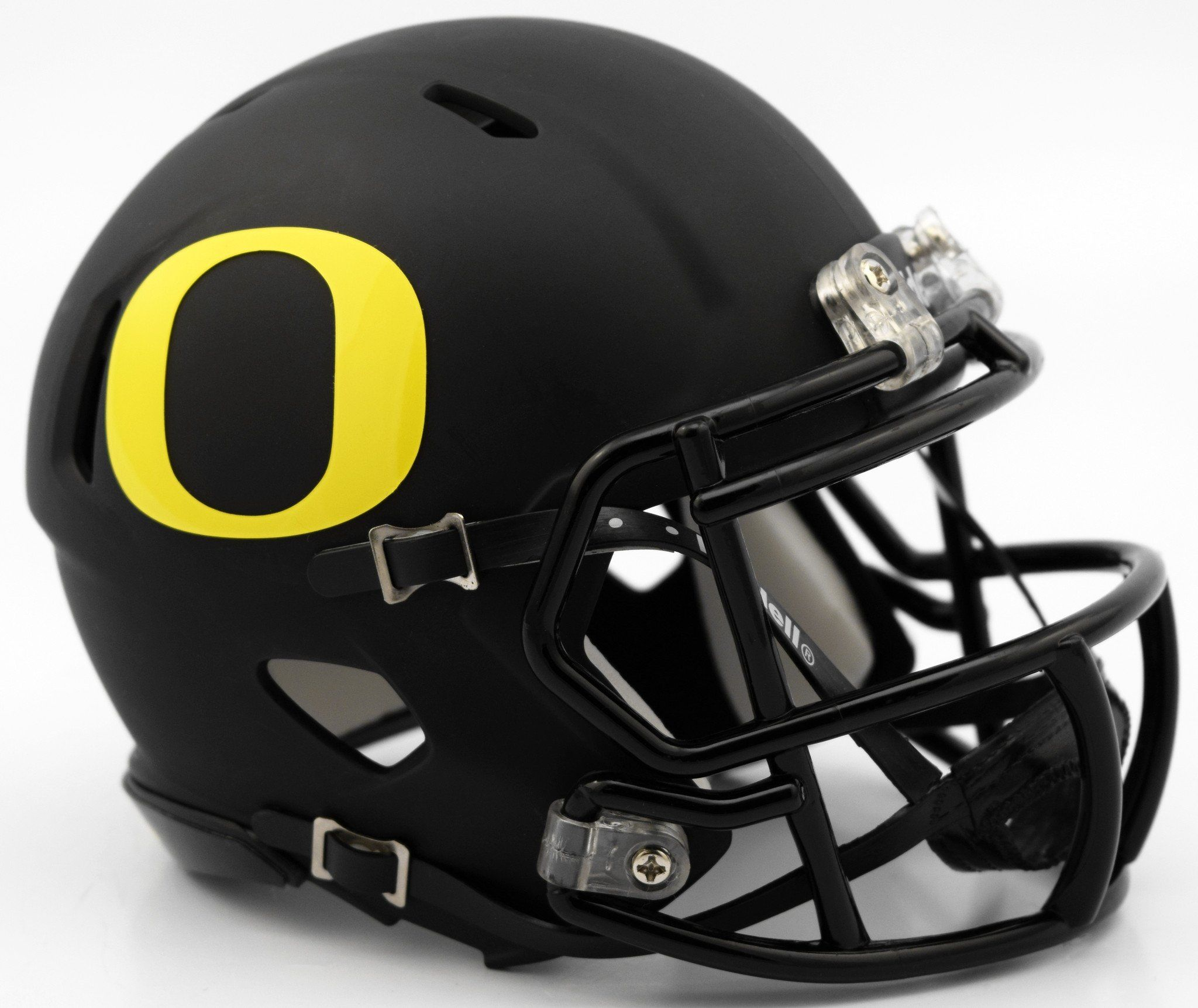 various colors a4df7 5736c Oregon Ducks Riddell Speed Mini Helmet - Matte Black ...