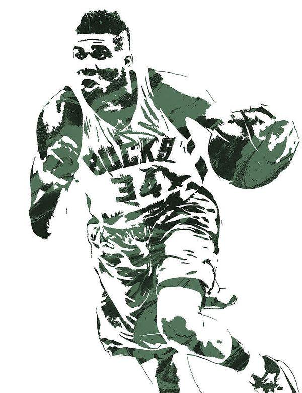 Giannis Antetokounmpo Milwaukee Bucks Pixel Art 4 Art
