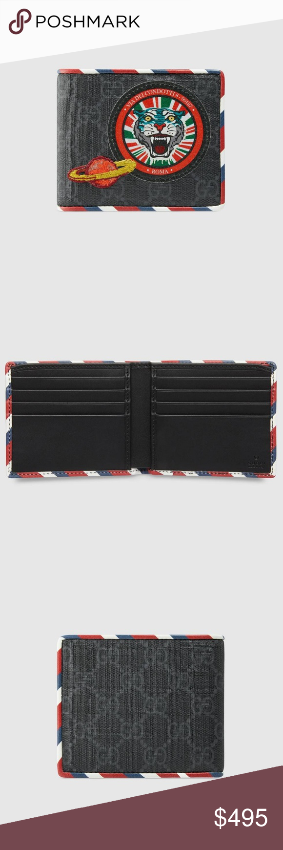 9c60ff095ab77c Gucci Night Courrier GG Supreme wallet Black/grey GG Supreme canvas, a  material with