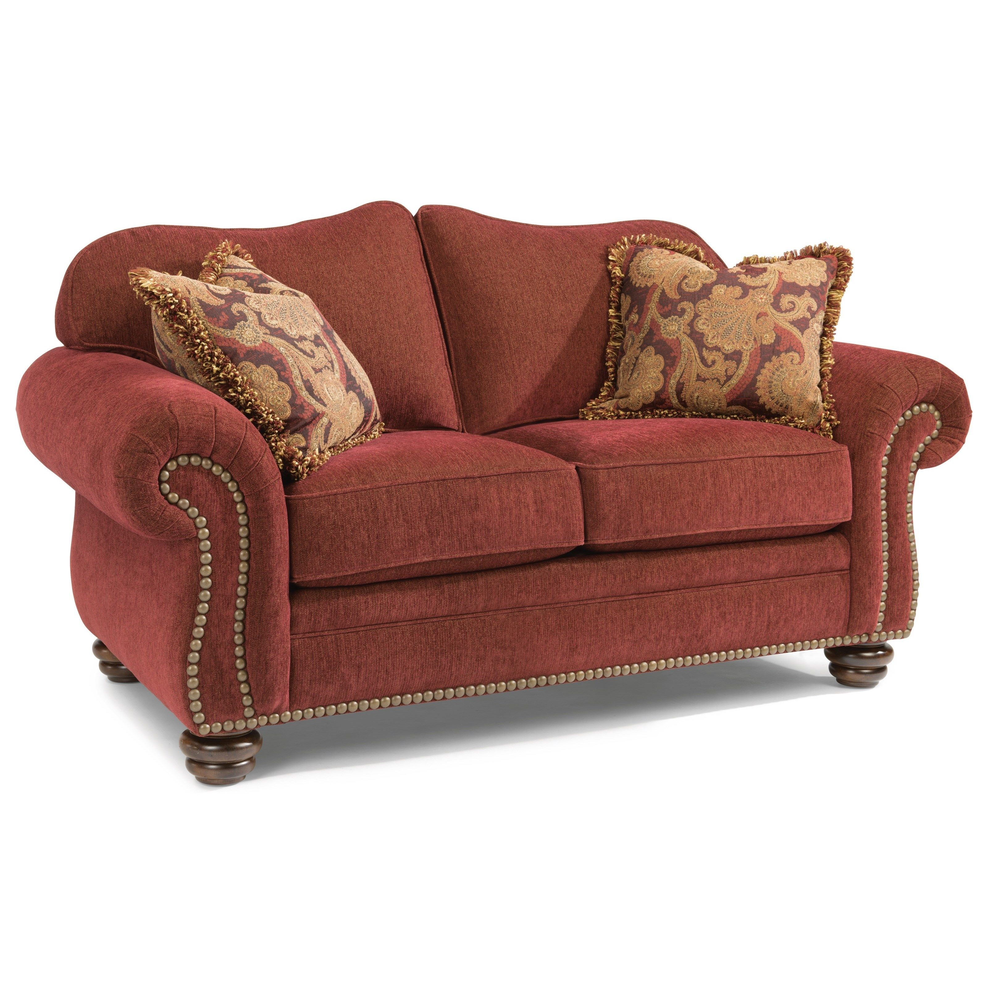 Lovely Bexley Love Seat With Nails By Flexsteel