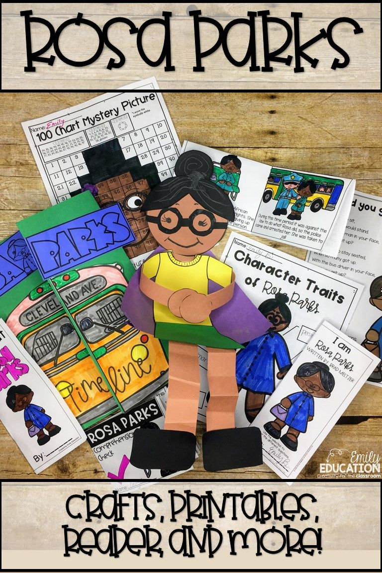 Everything You Need For Teaching About Rosa Parks Activities Crafts Worksheets Reader Poem Also Incl In 2020 Black History Poems Rosa Parks Rosa Parks Activities