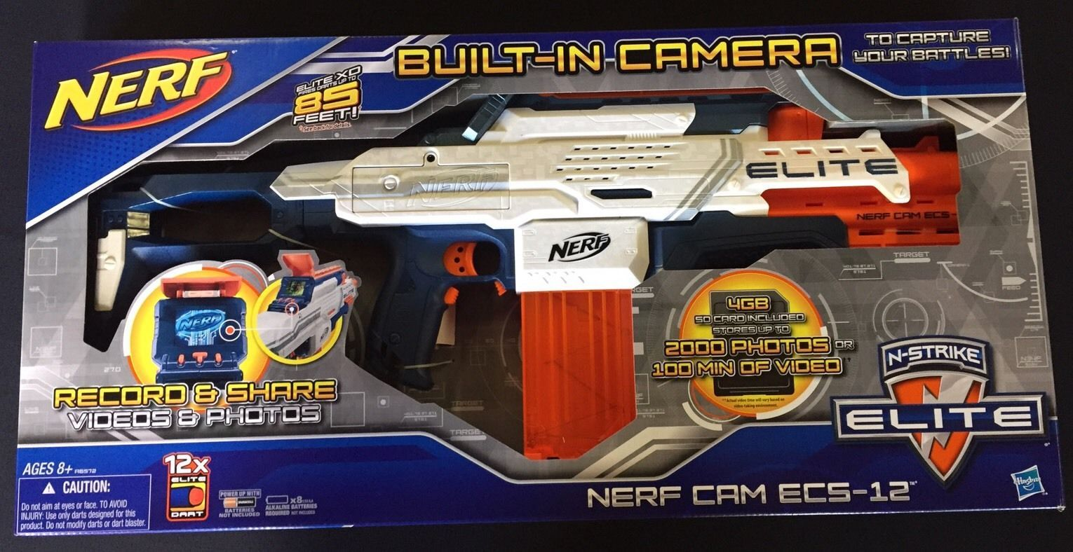 Nerf Gun With Built It Camera N-Strike Elite ECS-12 New!