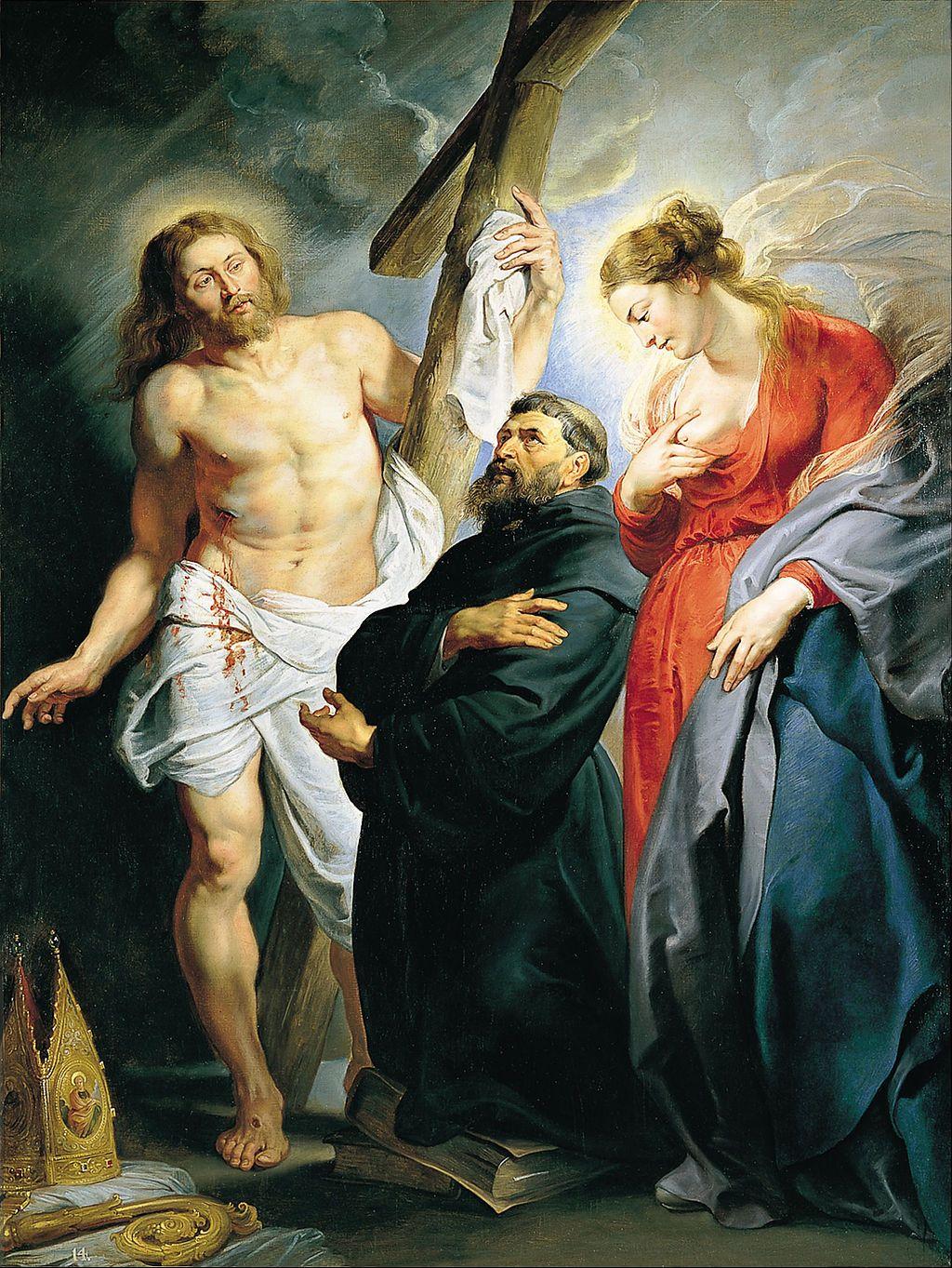 Pedro Pablo Rubens - San Agustín entre Cristo y la Virgen - Google Art Project.jpg