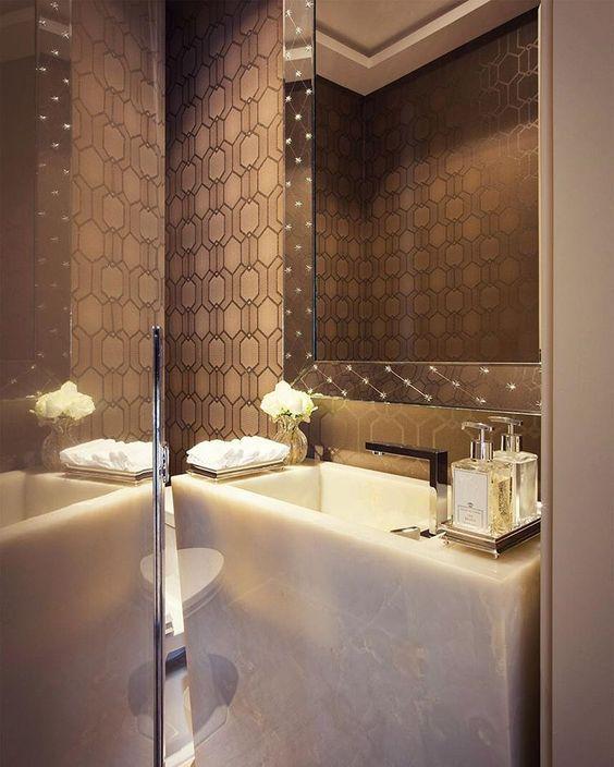 7 inspirações para lavabos pequenos u2013 Studio It Decor u2013 Design de - lavabos pequeos