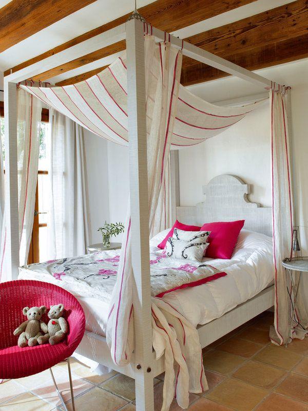 Las mejores camas con dosel habitaci n r stica neo casas de campo camas con dosel y camas - Doseles para camas ...