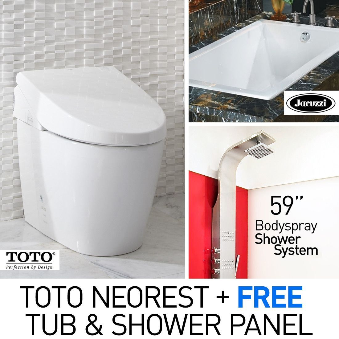 TOTO MS982CUMG Neorest 550H Toilet with Jacuzzi Elara 72\