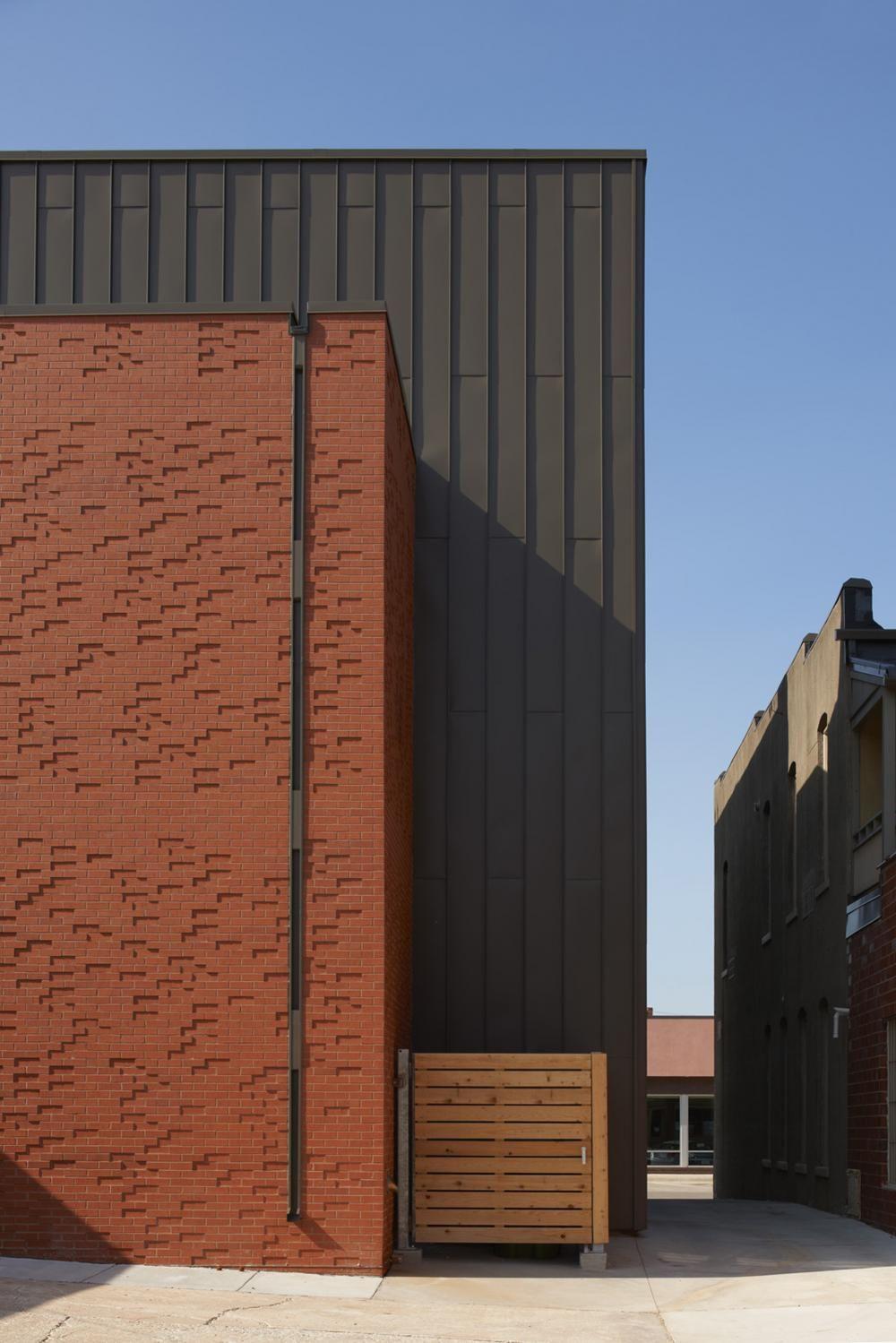 Metal Panels And Brick Metal Facade Metal Cladding Edwardian House