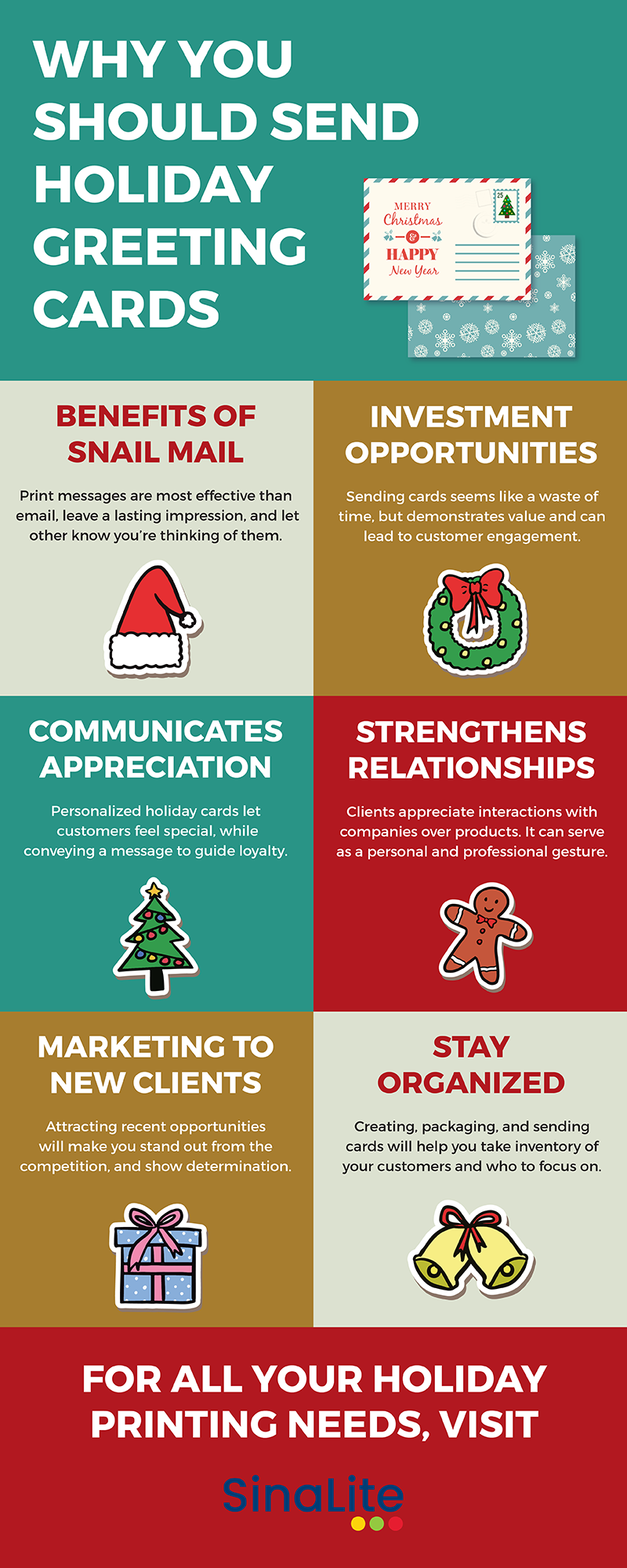 Why You Should Send Holiday Greeting Cards Business Infographics